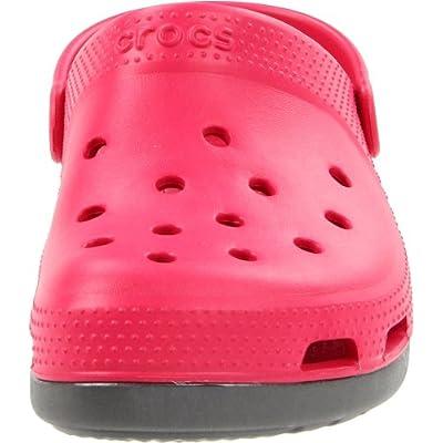Crocs Duet Core Plus Clog, Raspberry/Graphite, Men's 9 M US/Women's 11 M US | Mules & Clogs