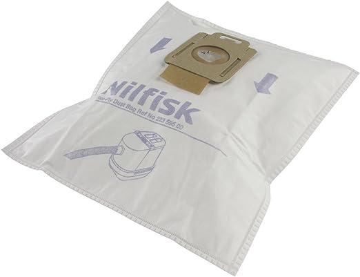 Nilfisk 22359500 - Pack de 5 bolsas para aspirador y prefiltro ...