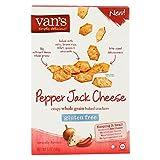 Van's Natural Foods Crackers - Peppr Jack Cheese - Case of 6-5 oz