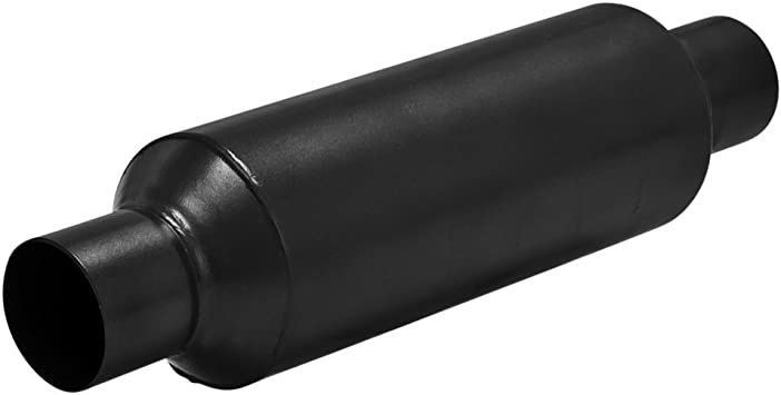 Flowmaster 815425S Outlaw Race 2.50 Center Out 409S Short Muffler with Aggressive Sound