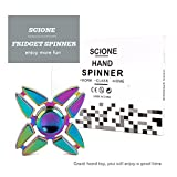 SCIONE Metal Fidget Spinner 7 Pack Stainless