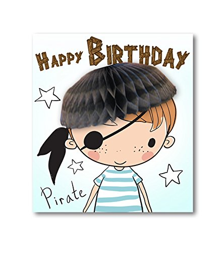 Pop Up Tarjeta pulpa de panal pirata Tarjeta de felicitación ...