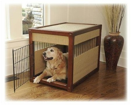 Mr. Herzher's Deluxe Dog Crate - Large