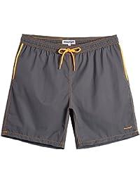 f46abdd374cab Mens Slim Fit Quick Dry Swim Shorts Swim Trunks Mens Bathing Suits with  Mesh Lining