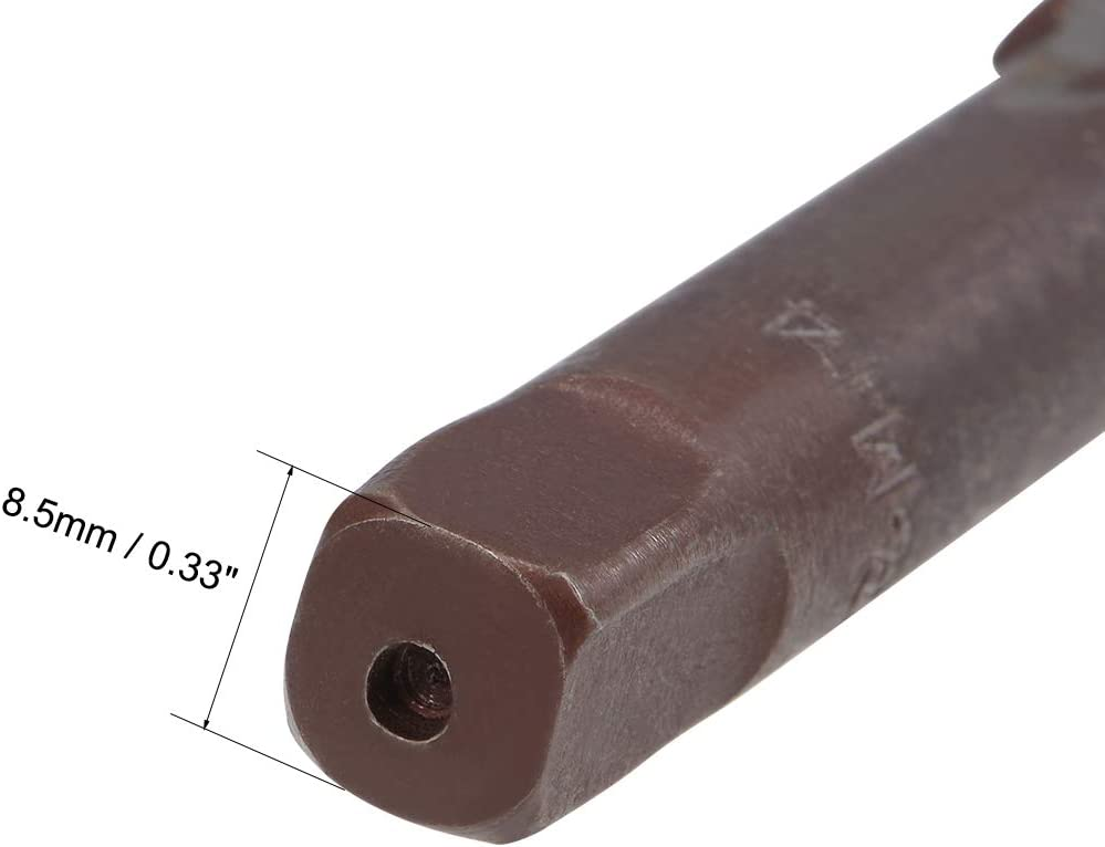 sourcing map 2 Paare metrisches Handgewinde Gewindesteigung 4 Schussgerinne H2 legierter Werkzeugstahl M14x2