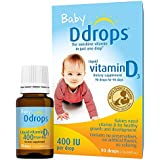 Ddrops Baby 400 IU, Vitamin D, 90 Drops (4 Pack)