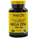Nature's Plus, Mega Zinc, 100 mg, 90 Tablets - 3PC