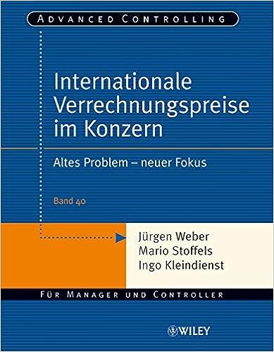 Book Internationale Verrechnungspreise Im Konzern: Altes Problem - Neuer Fokus (Advanced Controlling)