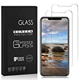 #4: iPhone X Screen Protector, Basse 2 Pack HD Hard Tempered Glass Ultra Clear Shatter Proof Screen Protector for Apple iPhone X/iPhone 10 (2017)