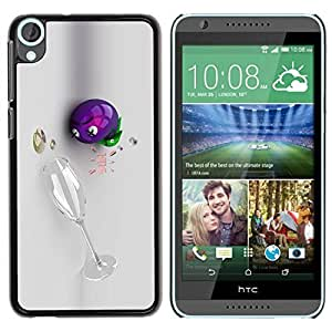 LASTONE PHONE CASE / Slim Protector Hard Shell Cover Case for HTC Desire 820 / Wine 3D Funny Drunk by ruishername