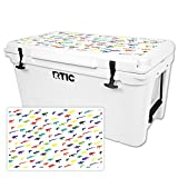 MightySkins Protective Vinyl Skin Decal for RTIC 65 Cooler Lid (2016) wrap Cover Sticker Skins Fun Guns