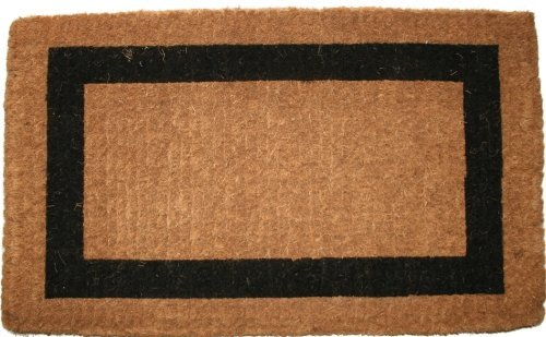 Imports Decor Printed Coir Doormat, Classic Single Black Border, 36-Inch by 60-Inch by Imports Décor