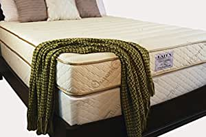 "Roma Natural Latex Mattress - 6"" Natural Dunlop Latex - 9"" Finished Height - 2 in1 Comfort Technology (Queen)"