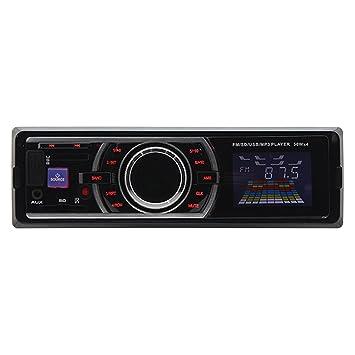 VKTECH® Reproductor MP3 Estéreo Montados en Vehículos para Coche Lector de Tarjetas Radio SD USB MMC Led Pantalla Control de Sonido Digital: Amazon.es: ...
