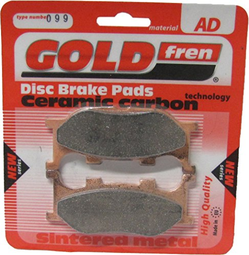Yamaha YP 250 Majesty (Front Disc & Rear Disc) (UK) 1998-2003 Brake Disc Pads Goldfren - Front Right (Pair):