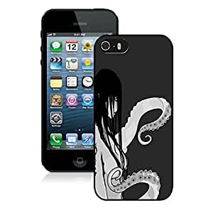 Popular Designed Case With Octopus Lady Cover Case For iPhone 5S Black Phone Case CR-476
