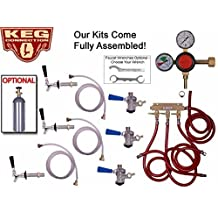 3 Faucet Fridge Kit with Ss Shank, Tailpiece and Standard Faucet, Ball Lock by Kegconnection