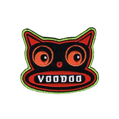 Artist Chico Von Spoon Voodoo Doll Cat Embroider Iron On Applique Patch FD