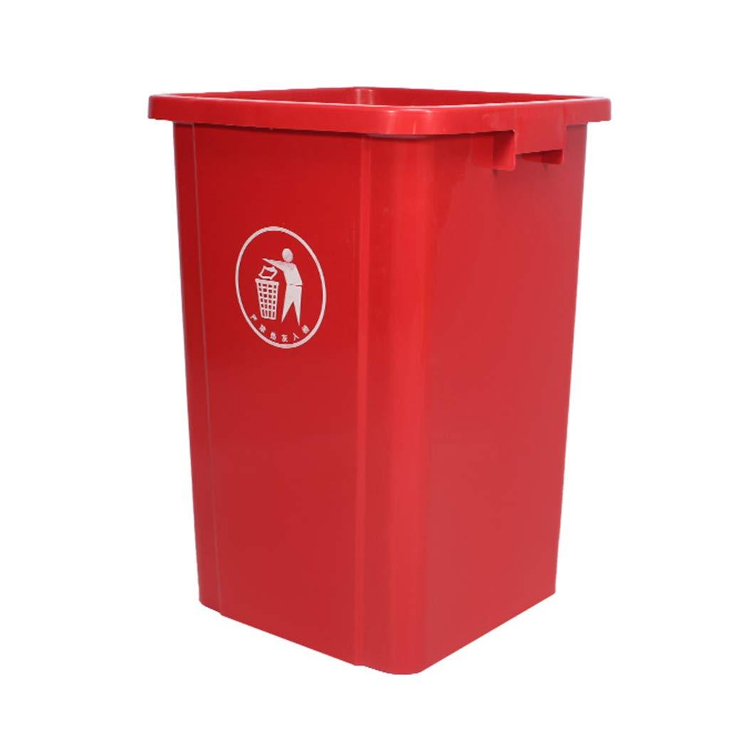 KJZ Clasificación al aire libre Cubo de basura, Hogar Cocina de alta capacidad Sin tapa Cubo de basura Restaurante de supermercado Cubo de basura de plástico Reciclaje de desechos Escombros, recoger,