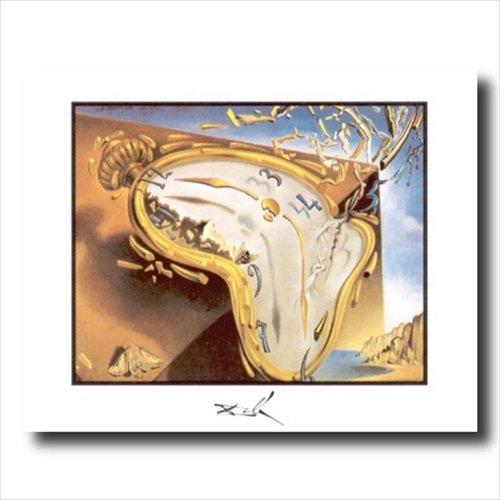 Dalí momento de reloj de explosión cuadro enmarcado arte impresión: Amazon.es: Hogar
