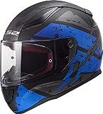 LS2 Helmets Motorcycles & Powersports Helmet's Full Face Rapid Deadbolt Matte Blue X-Large
