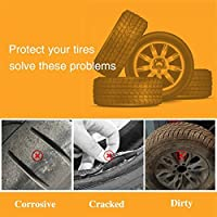 """4 Pack Tire Covers for RV Wheel, Waterproof Oxford Tire Protectors Wheel Cover for 27"""" - 29"""" Tire Diameter,Silver"""