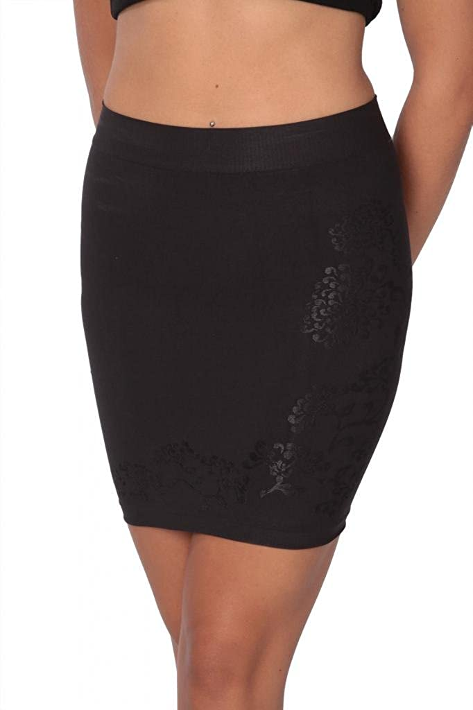 Hanes Firm Control Shaping Half-slip with Built-in Panty Nude & Black 0443
