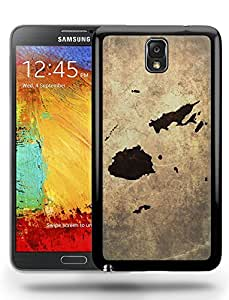 Fiji National Vintage Country Landscape Atlas Map Phone Case Cover Designs for Samsung Galaxy Note 3