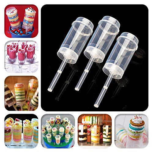1 lot 10pcs/lot Cake Push Pop Containers Baking Addict Wholesale Clear Push-Up Cake Pop Shooter(Push Pops) Plastic Containers -