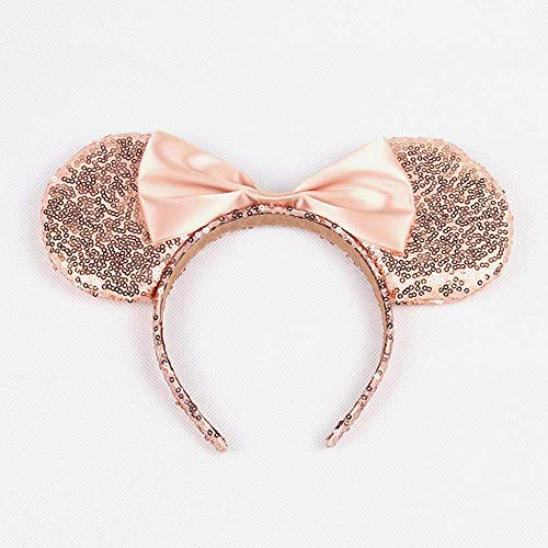 Mouse Ears Mouse Sequin Ears Headbands Butterfly Glitter Hairband (Shiny champagnes)