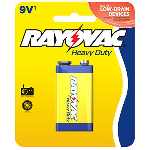 RAYOVAC RVCD16041D, Heavy-Duty Batteries (9V/Single) D1604-1D