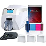 Magicard Rio Pro Single Sided ID Card Printer & Complete Supplies Package with SILVER Edition badgeDesigner ID Software