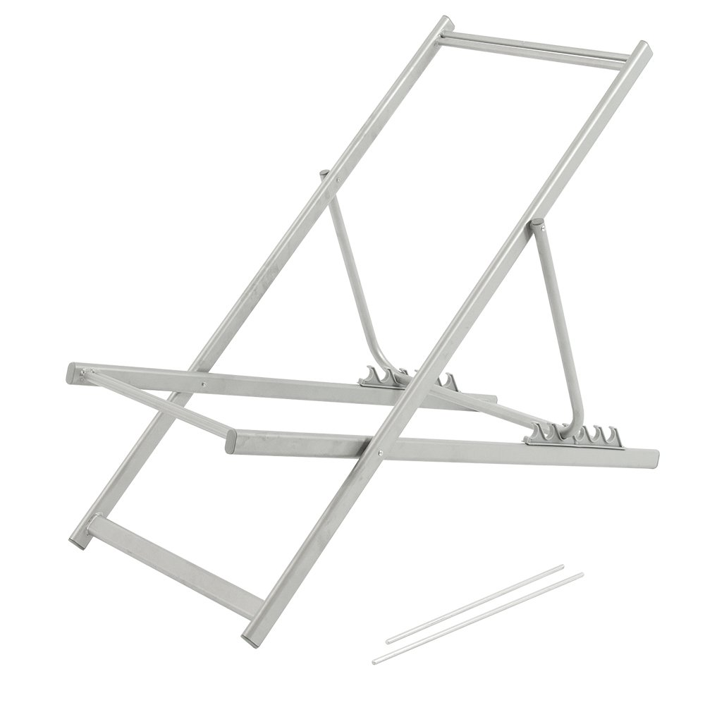 Vispronet Adjustable Aluminum Beach Chair, Sturdy and Lightweight Aluminum Frame, Holds up to 200lbs (Frame Only)