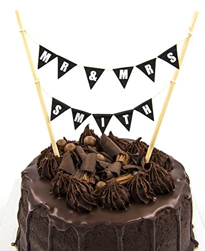 Cake Topper Double Row Bunting