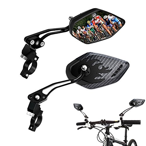 2Pcs Universal Handlebar HD Glass Safe Bicycle Rear View Mirror for Road Bikes