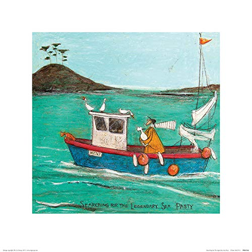 Art Group The Searching for The Legendary Sea Pasty Sam Toft Print, Paper, Multi-Colour, 40 x 40 x 1.3 cm The Art Group PPR45564