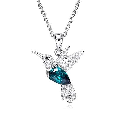 Fairye Collar Colgante con Forma De Pájaro Collar De Platino Y Plata Simple para La Sra. / Chicas/Amantes Regalos Navideños: Amazon.es: Joyería