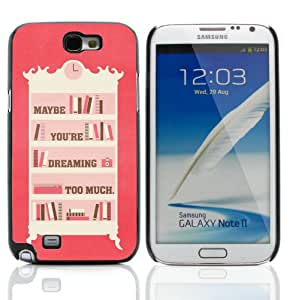GagaDesign Phone Accessories: Hard Case Cover for Samsung Galaxy Note 2 N7100 / N7105 - Dreaming Too Much