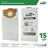 Eureka Type RR Vacuum Bags (15 Pack); Similar To Part 67529; Fits All Bagged Smart Vac Uprights; by ZVac