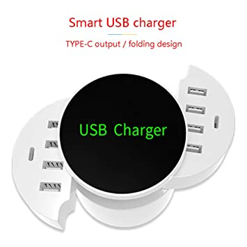 YTBLF Cargador USB inalámbrico, Cargador Inteligente ...
