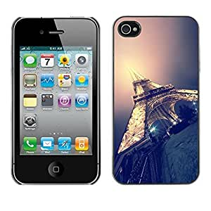 TaiTech / Hard Protective Case Cover - Paris Light Night City France - Apple iPhone 4 / 4S