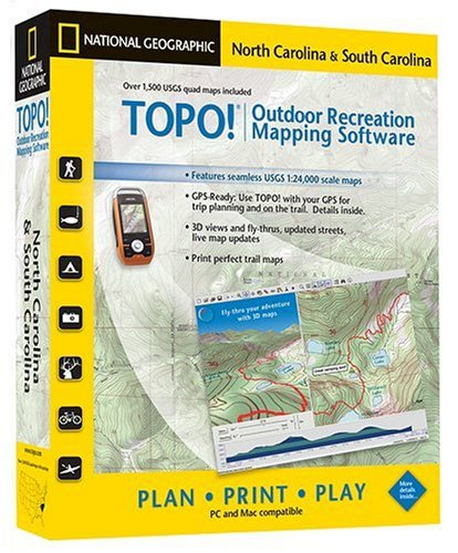 TOPO! National Geographic USGS Topographic Maps (North Carolina and South Carolina)