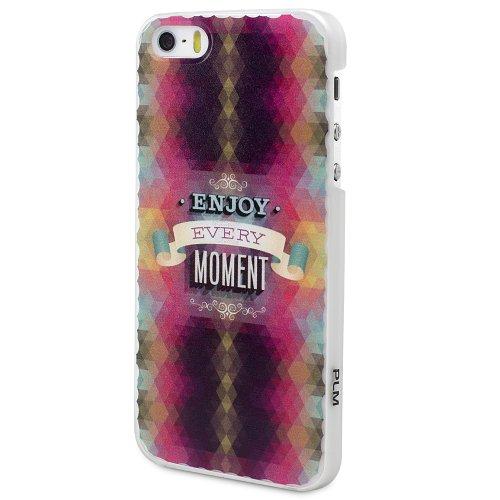 """PLM """"avanos Vintage Enjoy Every Moment Motif–Apple iPhone 5s, iPhone 5housse coque case Back Cover verre opale/Blanc (Lait)"""