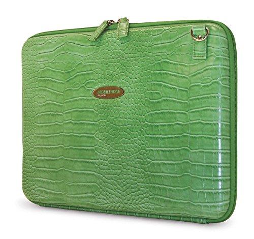 - Mobile Edge 14.1''PC /15'' MacBook Pro Faux Croc Portfolio, Laptop Sleeve, Green