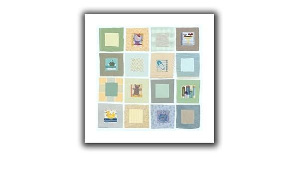 22 22-Inch ArtWall Maria Carluccio Babys Squares Unwrapped Flat Canvas Artwork