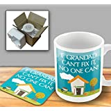 If Grandad cant fix it no one can - Mug & Coaster Set by The Victorian Printing Company