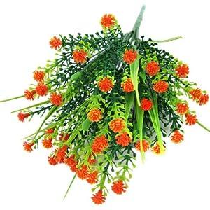 FidgetGear Artificial Fake Baby's Breath Gypsophila Flowers Bouquet Home Wedding Decor Orange 109