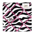 Funky Zebra Fabric Memorymemo Photo Bulletin Board from Sweet Jojo Designs