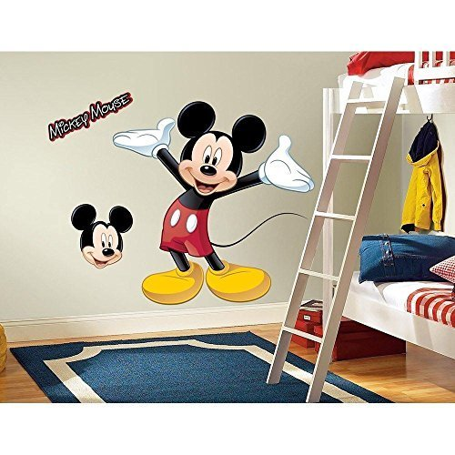 Disney Mickey Mouse Giant Wall Decal (Giant MICKEY MOUSE WALL DECAL Disney Bedroom Stickers Kids Room Decor :New free shipping by WW shop)