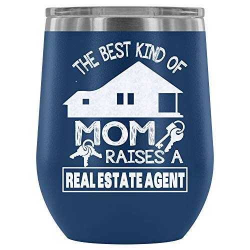 Stainless Steel Tumbler Cup with Lids for Wine, Railroader Mom  Wine Tumbler, I Love Mommy  Vacuum Insulated Wine Tumbler (Wine Tumbler 12Oz - Blue)]()